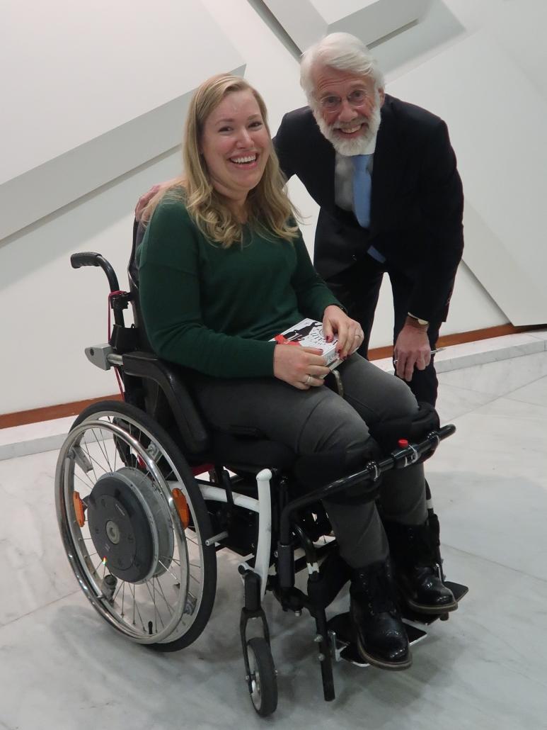 Manon en Erik Scherder na afloop van de publiekslezing Het Fitte Brein in de RAI